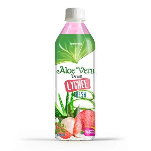 Aloe Vera Drink Lychee 500ml PET Bottle