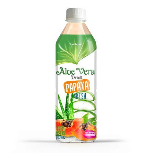 Aloe Vera Drink Papaya 500ml PET Bottle
