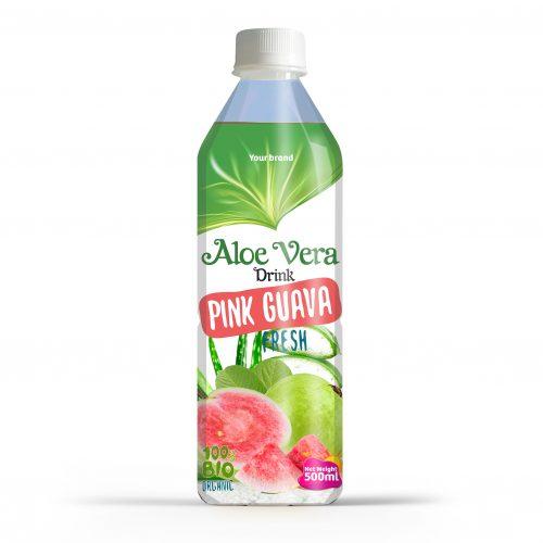 Aloe Vera Drink Pink Guava 500ml PET Bottle