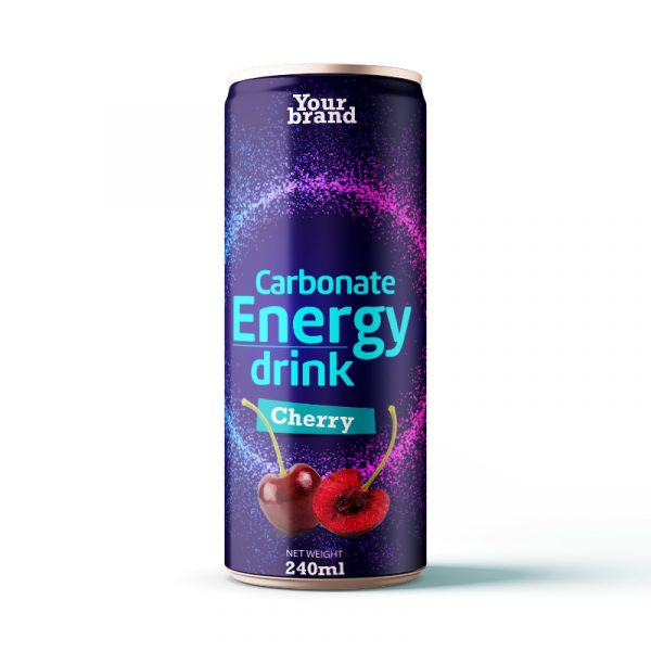 Carbonated Energy Drink Cherry 250ml Can