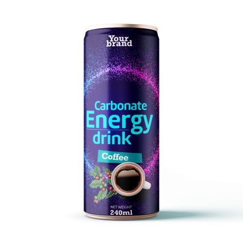 Carbonated Energy Drink Coffee 250ml Can