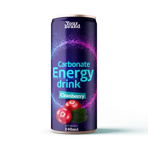 Carbonated Energy Drink Cranberry 250ml Can