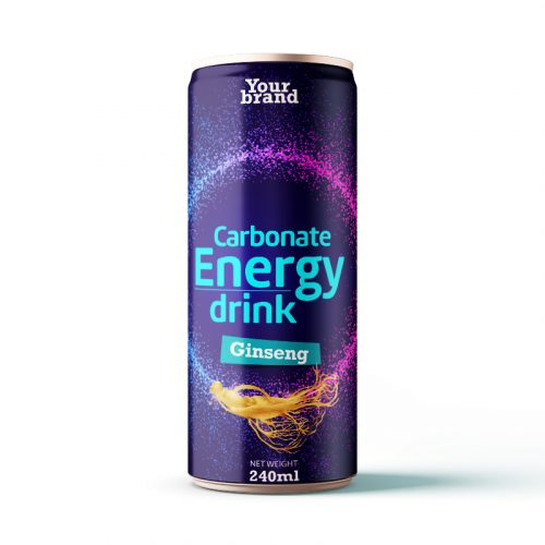 Carbonated Energy Drink Ginseng 250ml Can