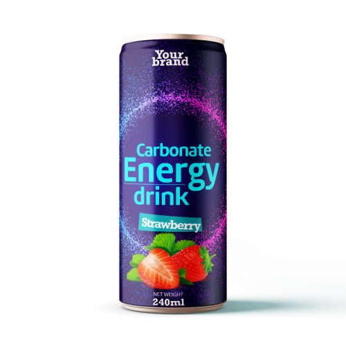 Carbonated Energy Drink Strawberry 250ml Can