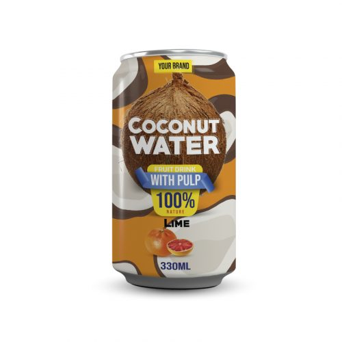 Coconut Water With Pulp Lime 330ml Can