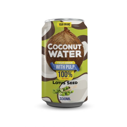 Coconut Water With Pulp Lotus Seed 330ml Can