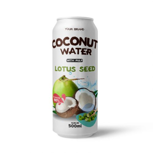 Coconut Water With Pulp Lotus Seed 500ml Can