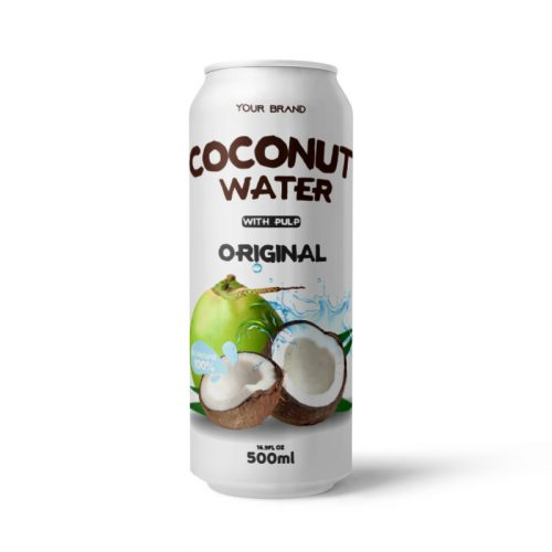 Coconut Water With Pulp Original 500ml Can