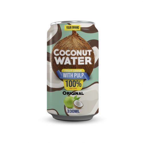 Coconut Water With Pulp Original 330ml Can