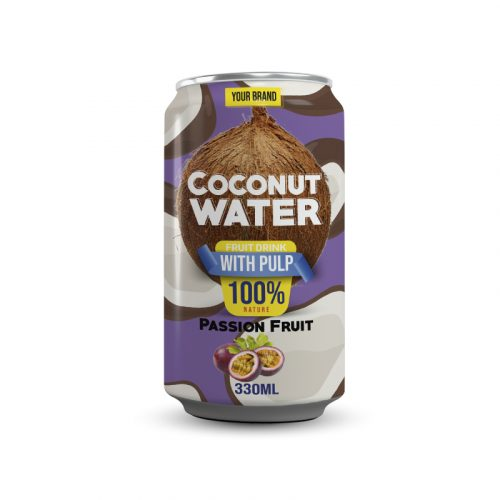 Coconut Water With Pulp Passion Fruit 330ml Can