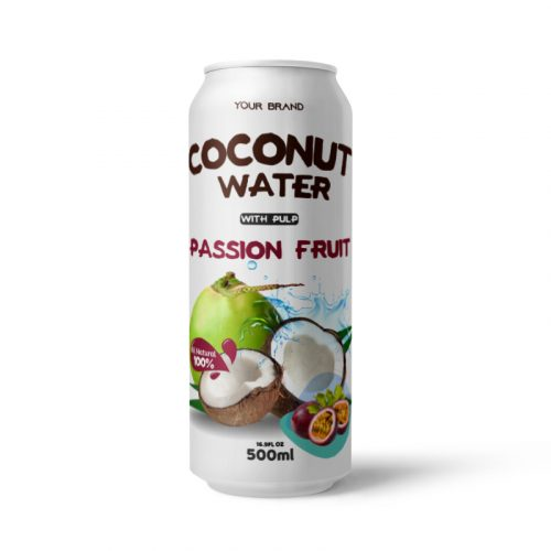 Coconut Water With Pulp Passion Fruit 500ml Can