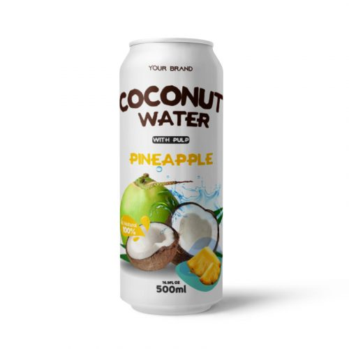 Coconut Water With Pulp Pineapple 500ml Can