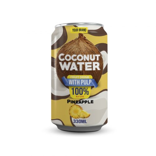 Coconut Water With Pulp Pineapple 330ml Can