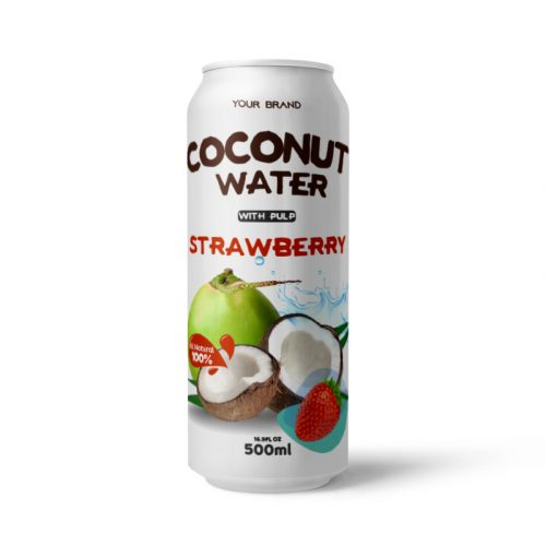 Coconut Water With Pulp Strawberry 500ml Can