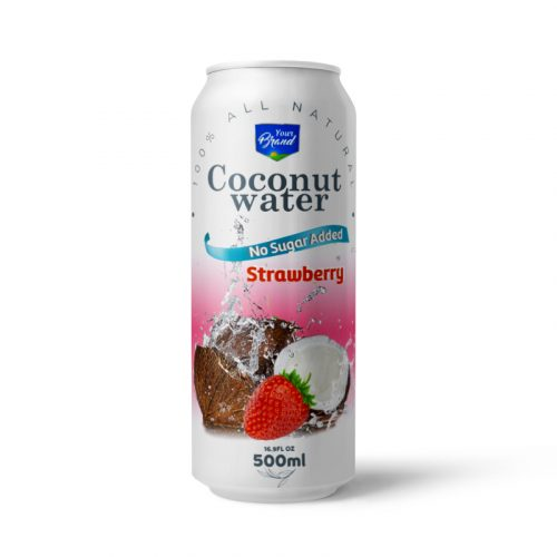 Coconut Water Strawberry 500ml Can