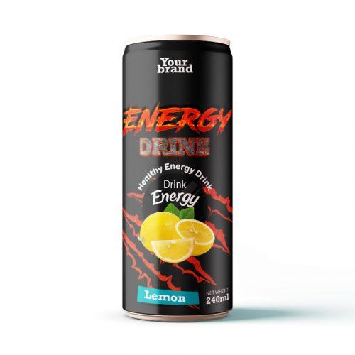Energy Drink Lemon 250ml Can