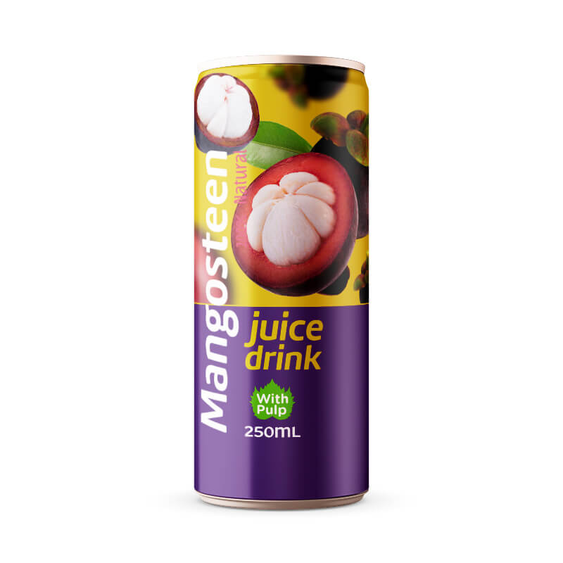 Mangosteen Juice Drink With Pulp 250ml Can