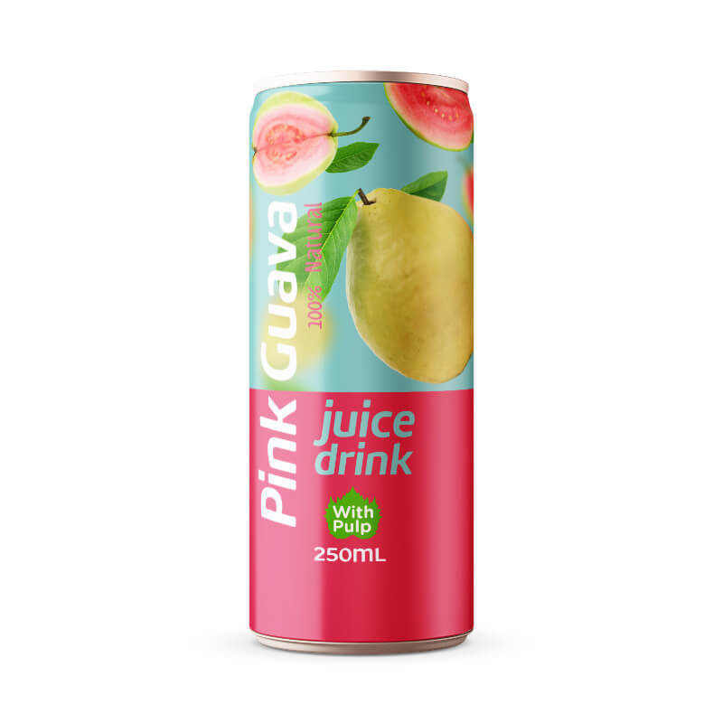 Pink Guava Juice Drink with Pulp 250ml Can