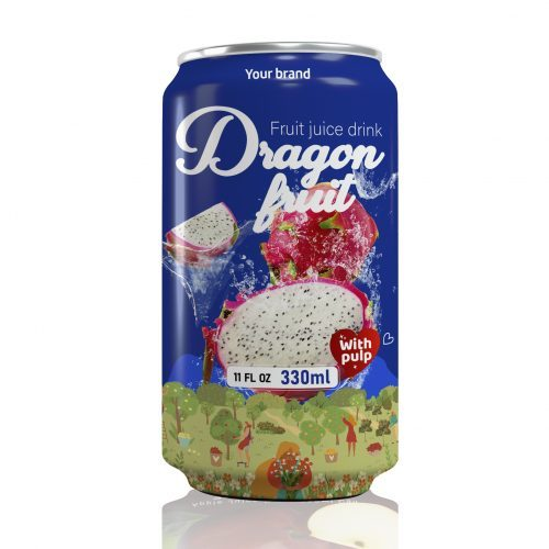 Dragon Fruit Juice Drink with Pulp 330ml Can