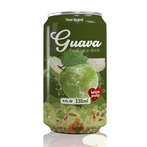 Guava Juice Drink with Pulp 330ml Can