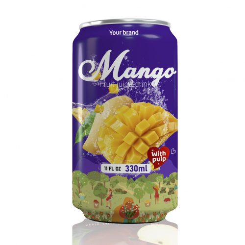 Mango Juice Drink with Pulp 330ml Can