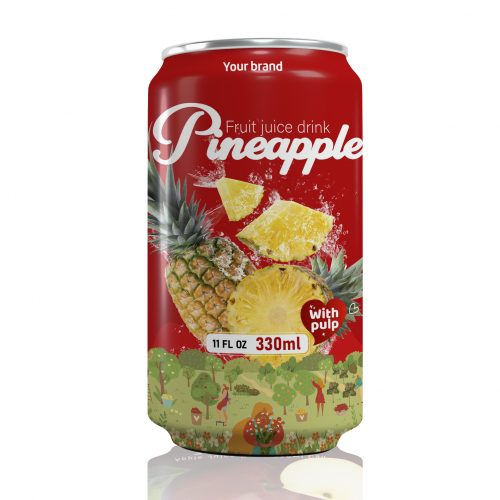 Pineapple Juice Drink with Pulp 330ml Can