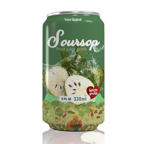 Soursop Juice Drink with Pulp 330ml Can