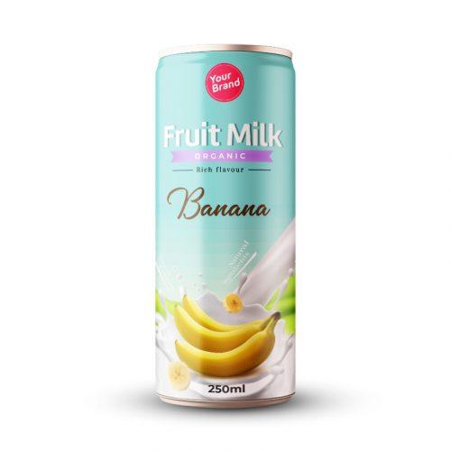 Banana Milk Drink 250ml Can