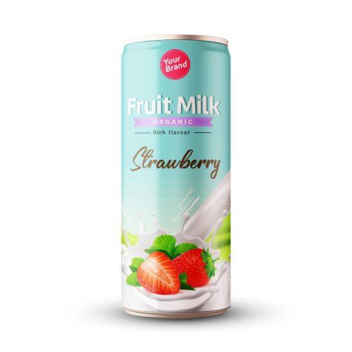 Strawberry Milk Drink 250ml Can