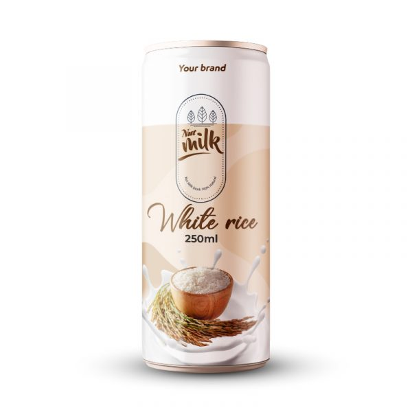 White Rice Milk Drink 250ml Can