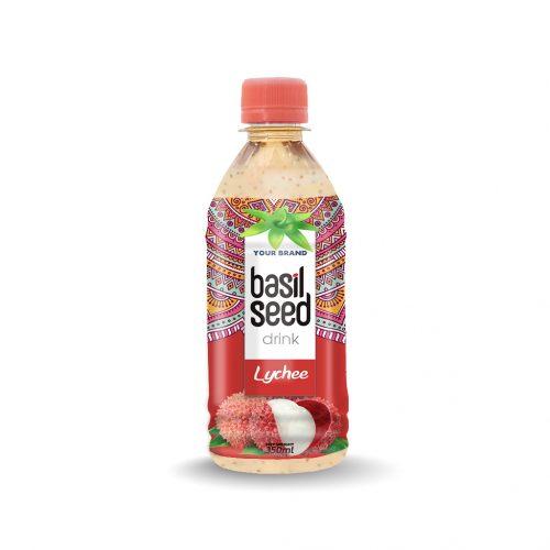 Basil Seed Drink Lychee 350ml PET Bottle