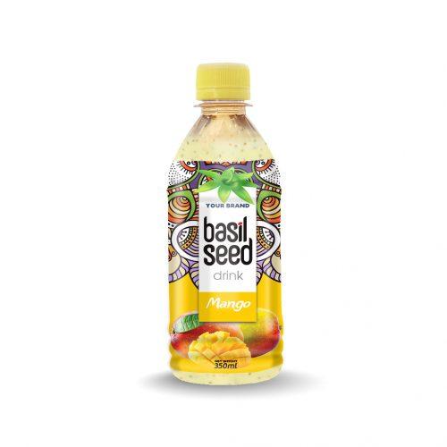 Basil Seed Drink Mango 350ml PET Bottle