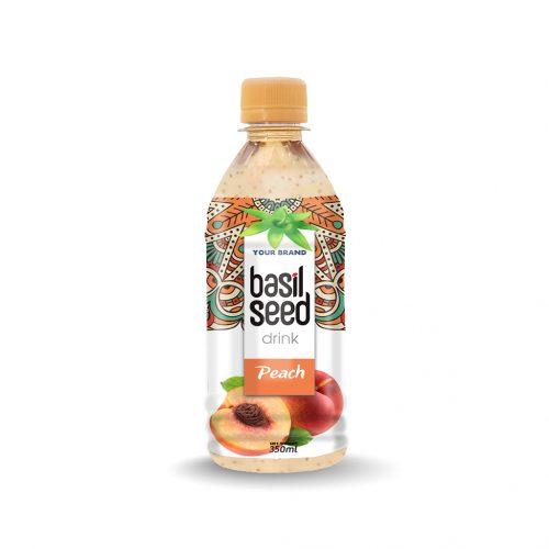 Basil Seed Drink Peach 350ml PET Bottle