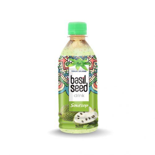 Basil Seed Drink Soursop 350ml PET Bottle