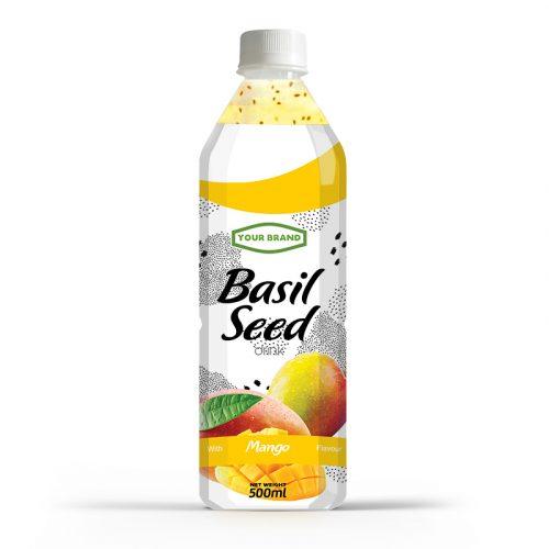Basil Seed Drink Mango 500ml PET Bottle