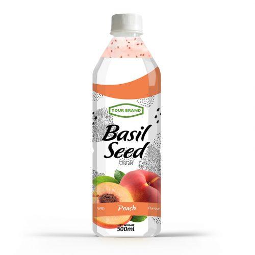 Basil Seed Drink Peach 500ml PET Bottle