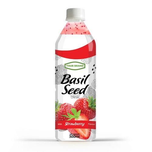 Basil Seed Drink Strawberry 500ml PET Bottle