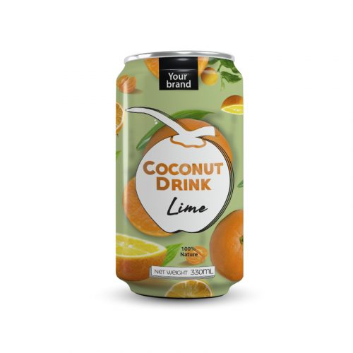 Coconut Water Lime 330ml Can