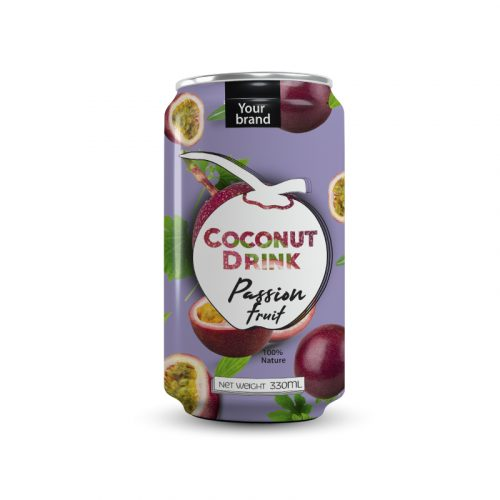 Coconut Water Passion Fruit 330ml Can