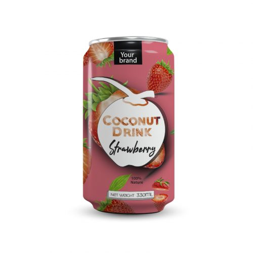 Coconut Water Strawberry 330ml Can