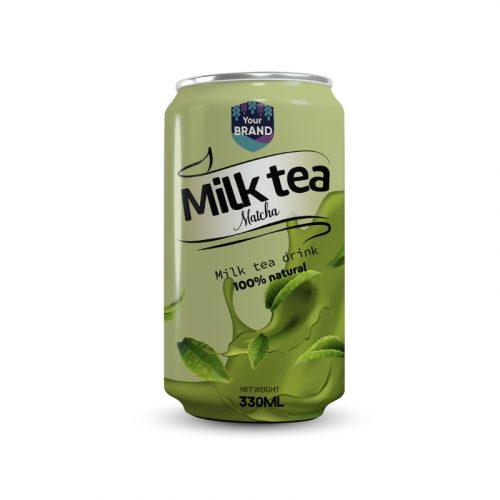 Milk Tea Drink Matcha 330ml Can