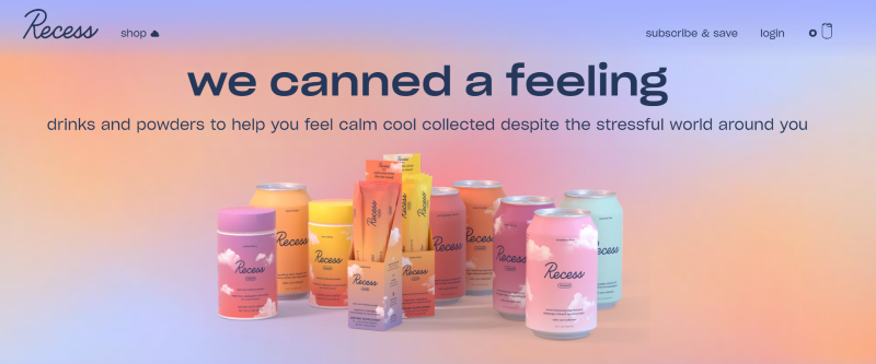Recess drink helps people find to relax and calm feeling