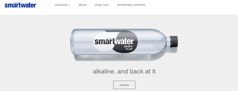 Smartwater offers functional beverages with various options